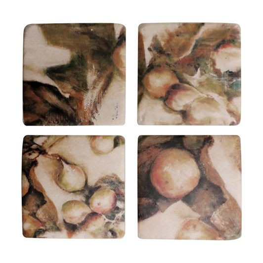 CC Interiors Ivy And Fig Coaster Set Of 4