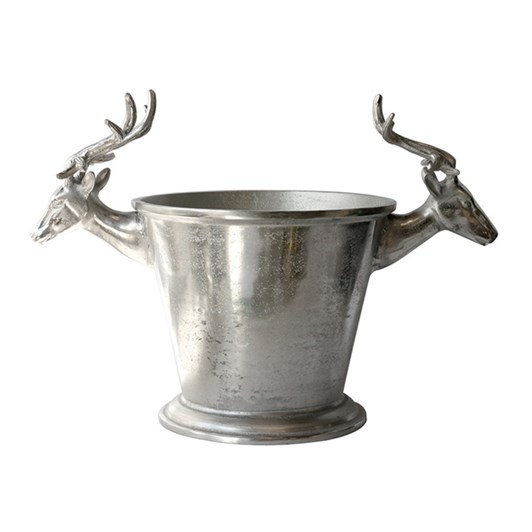 CC Interiors Champagne Bucket With Deer Heads 570x310x385cm