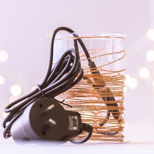 Stellar Haus 100 LED Seed Light String 10m Plug In Copper Warm White