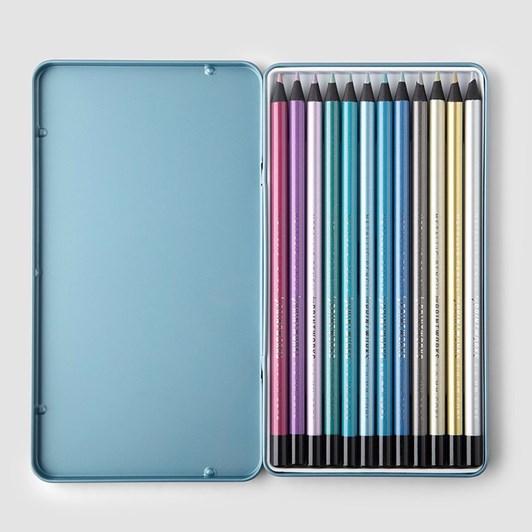 Printworks 12 Colour Pencils Metallic