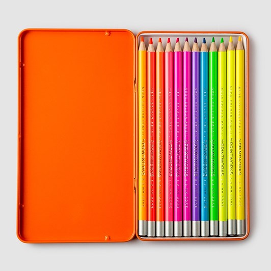 Printworks 12 Colour Pencils Neon