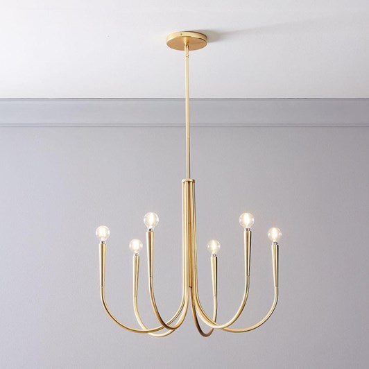 West Elm Swoop Arm Chandelier