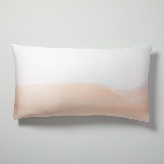 West Elm Tencel Sunrise Pillowcase Blue Tradewinds