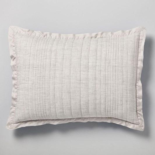 West Elm Belgian Flax Linen Linework Pillowcase