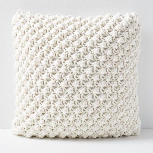 West Elm Bobble Knit Cushion Cover Natural