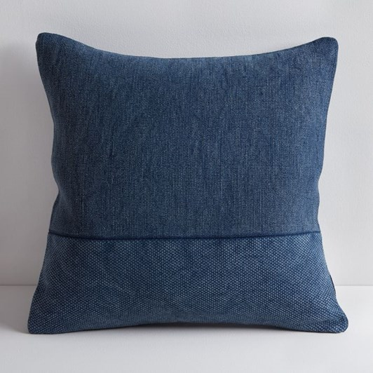 West Elm Pieced Cotton Canvas Cushion Cover Midnight