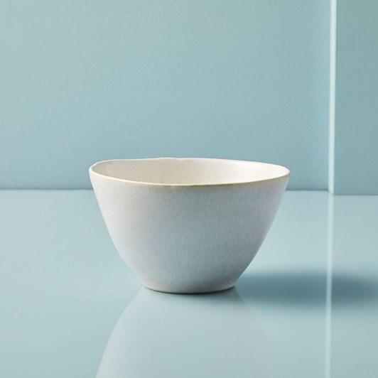 West Elm Reactive Glaze Bowl White
