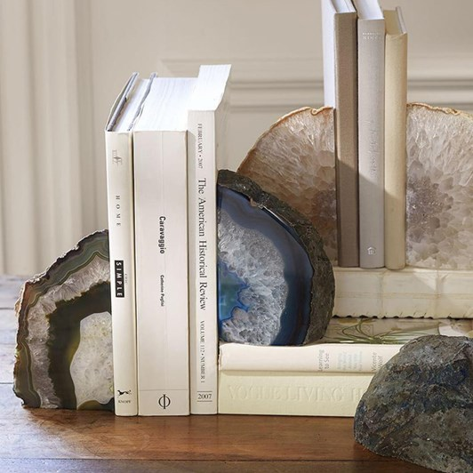 Pottery Barn Agate Bookends Set Of 2