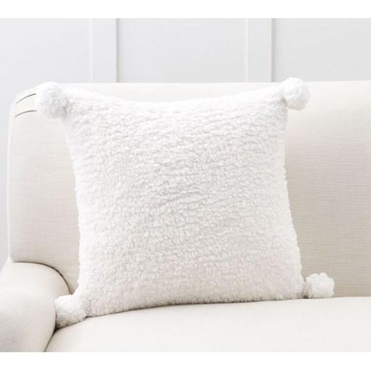 Pottery Barn Cozy Pom Pom Pillow Ivory