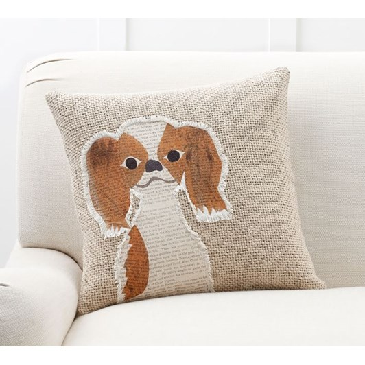 Pottery Barn Aurthur Applique Dog Pillow