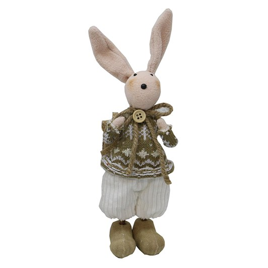 Standing White Easter Bunnie