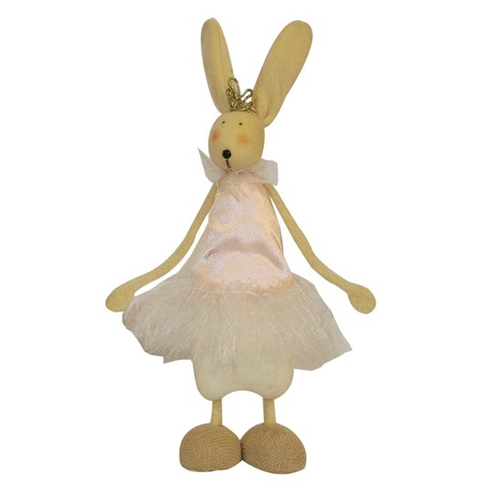Standing Pink Satin Easter Bunnie