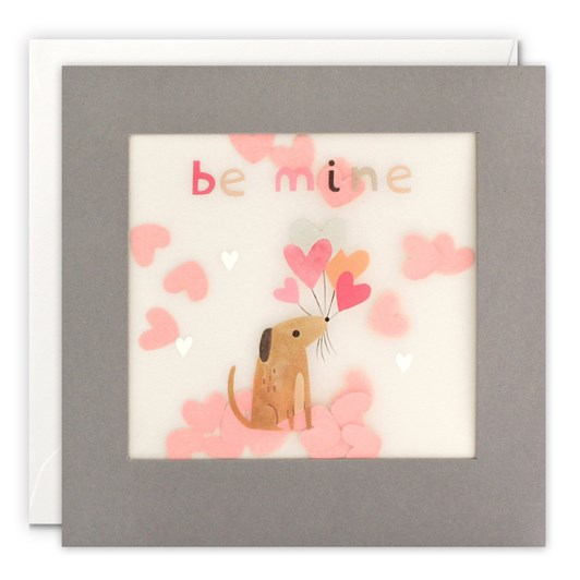 Be Mine Dog With Flowers Shakies Card