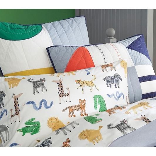 Pottery Barn Kids Organic Silly Safari Standard Pillowcase
