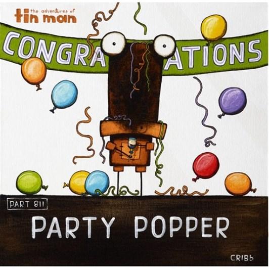 Tony Cribb Party Popper Notecard