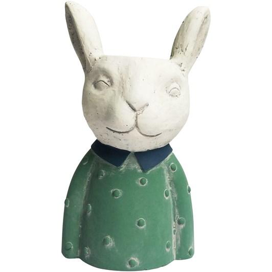 Bunny Planter Green Medium 23cm
