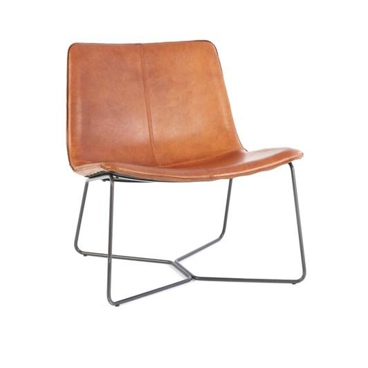 West Elm Slope Lounge Chair Saddle
