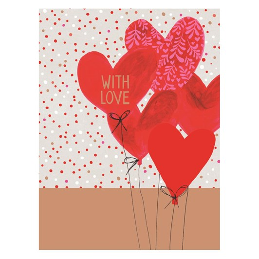 Valentine's Jamboree With Love Balloons Card