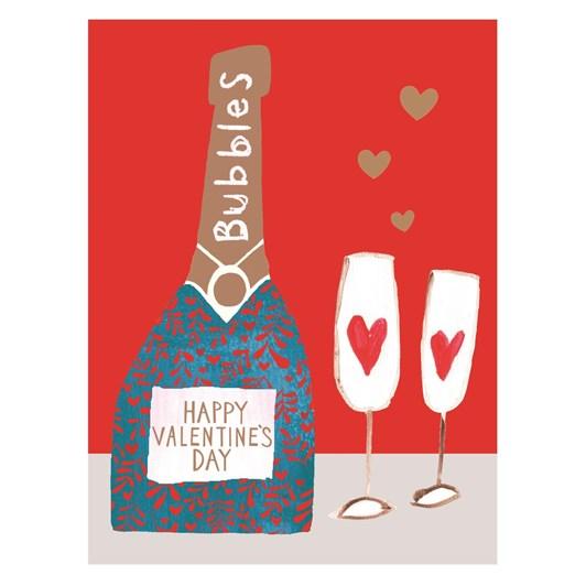 Valentine's Jamboree Bubbles Card