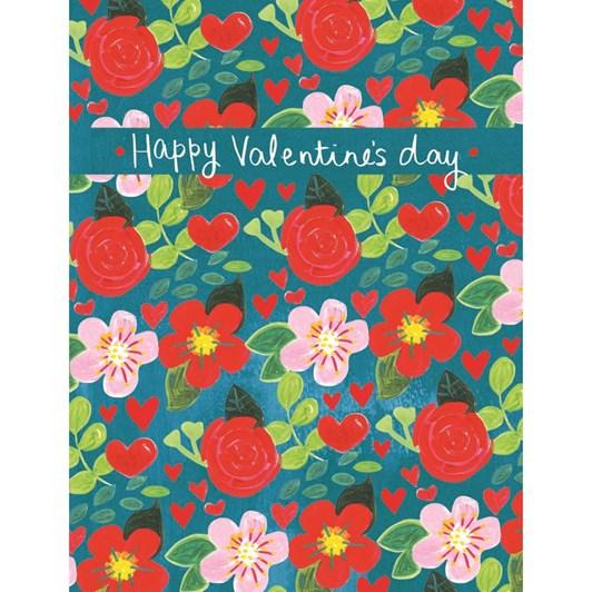 Valentine's Happy Valentine's Day Floral Card