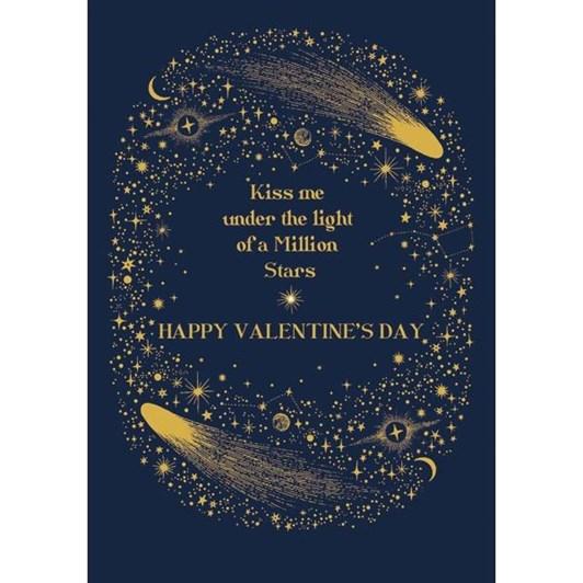 Valentine's Infinity & Beyond Kiss Me Card