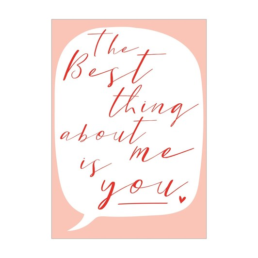Valentine's Happy Heart Best Thing Card