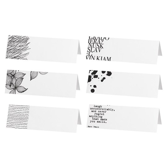 Rader Blossom Napkin Set With 6 Place Cards