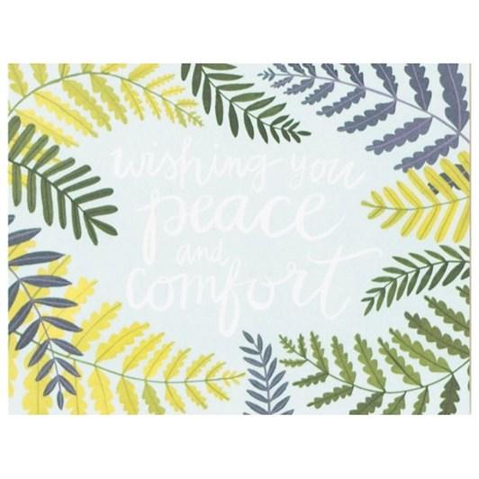 Vevoke Card Wishing Peace Floral