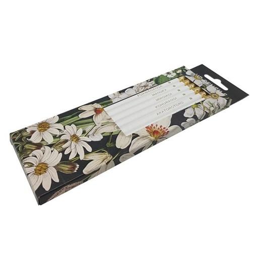 Tanya Wolfkamp White NZ Flowers Pkt 6 Pencils