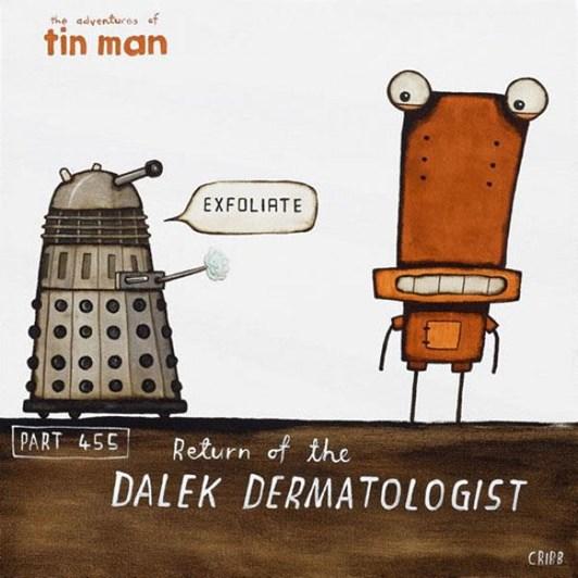 Tony Cribb Dalek Dermatologist Notecard
