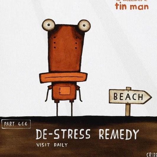 Tony Cribb De Stress Remedy Notecard