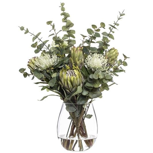 Pin Cushion Protea Mix Claire Vase