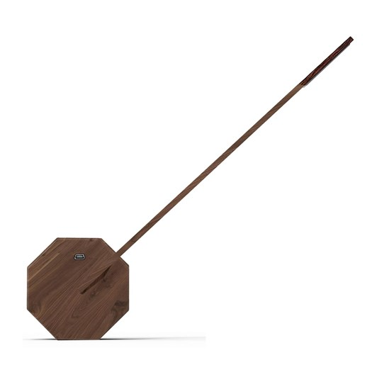 Gingko Octagon One Desk Lamp Walnut