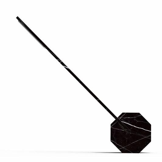 Gingko Octagon One Desk Lamp Black Marble