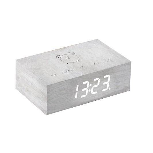 Gingko Flip Click Clock White Birch