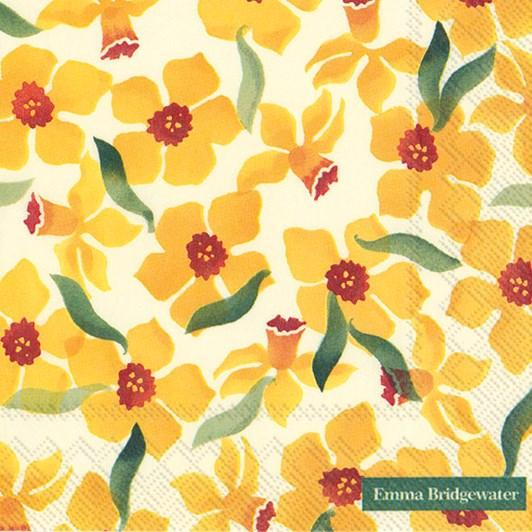IHR Luncheon Napkin Daffodils E.B.