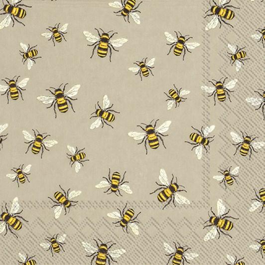 IHR Luncheon Napkin Lovely Bees Linen