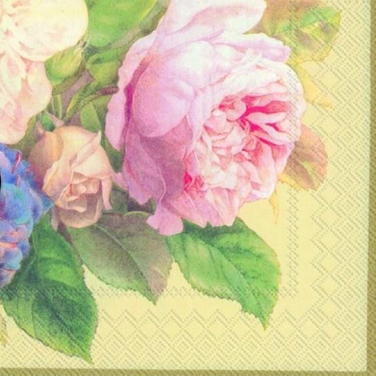 IHR Luncheon Napkin Fairy Rose Cream