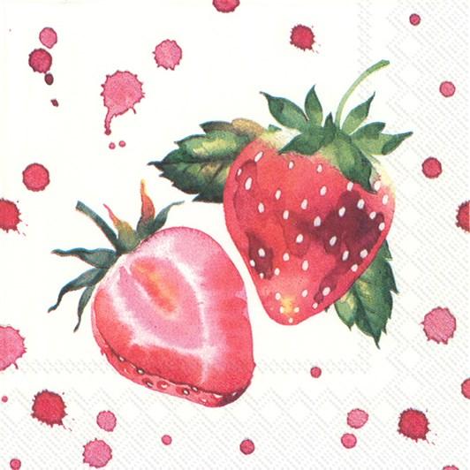 IHR Cocktail Napkin Soft Strawberries