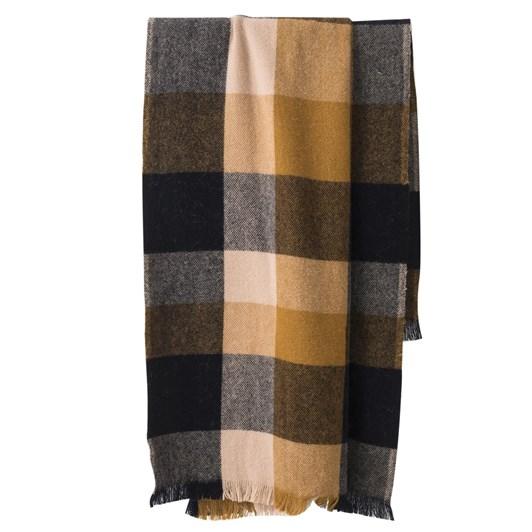 Citta Weekend Wool Throw W/Fringe Navy/Tea 150X180Cm