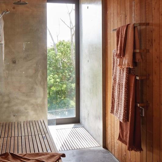 Citta Jacquard Bath Sheet Chestnut 90X160Cm