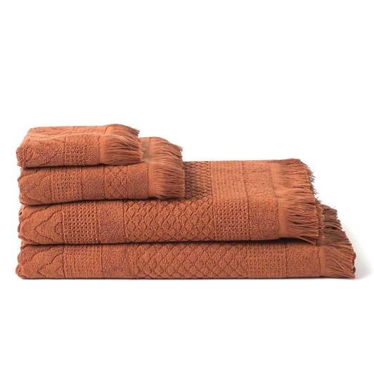 Citta Jacquard Hand Towel Chestnut 50X70Cm