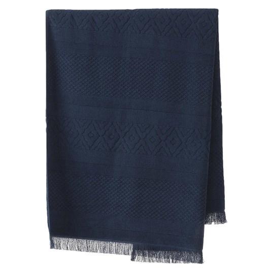 Citta Jacquard Bath Towel Navy 70X140Cm