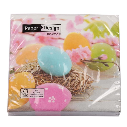 Pastel Eggs Luncheon Napkin
