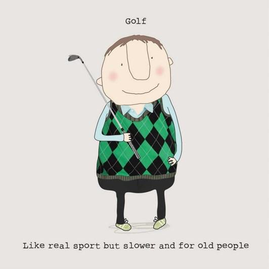 Roger la Borde Golf Greeting Card