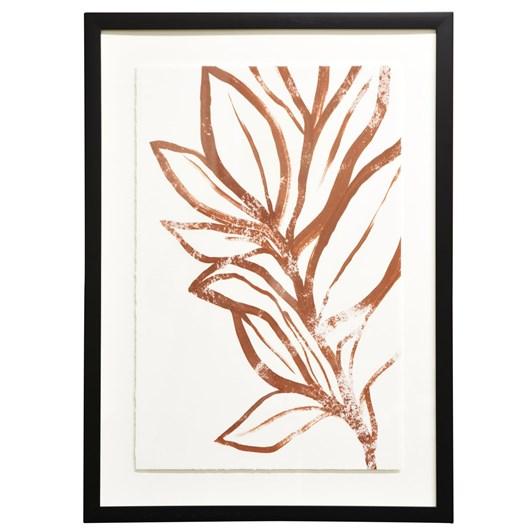 Botanical Framed Art Courageous Black