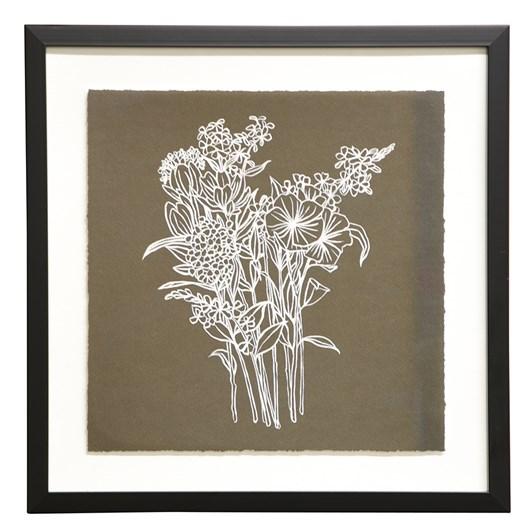 Botanical Framed Art Inspire, Black