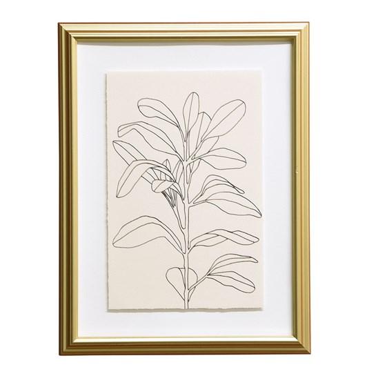 Botanical Framed Art Simplicity, Gold