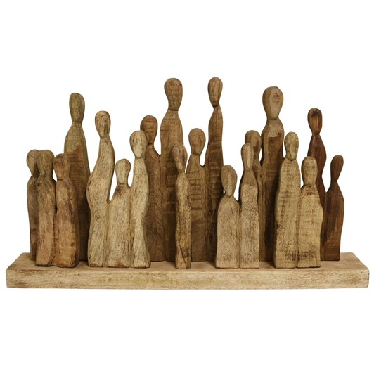 Wooden Family Gathering Natural