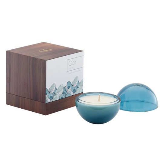 Only Orb Oar Glass Orb Candle Azure